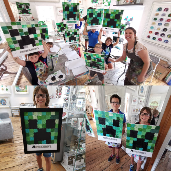 MINECRAFT HALLOWEEN ART WORKSHOP Ages 6+ Monday 28th October