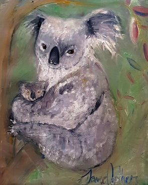 Kirra and Lewis, Mother and Baby Koalas - Ltd Edition Print