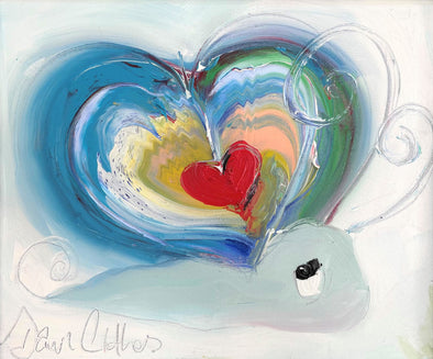 Heart snail - original oil painting