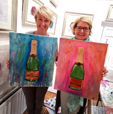 Veuve Clicquot Adult Paint & Sip Evening - Fri 19th March 2021