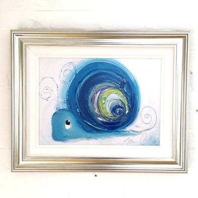 Hope the Snail - Hand Embellished Canvas Print