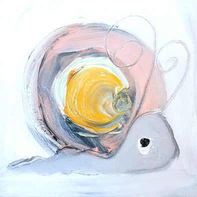 Peaches the Snail- Original Oil Painting