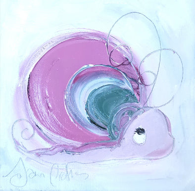 Candy the Snail- Original Oil Painting