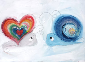Love and Hope Snails- Original Oil Painting