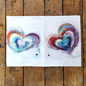 Rainbow Love Snails Teatowel - Homeware