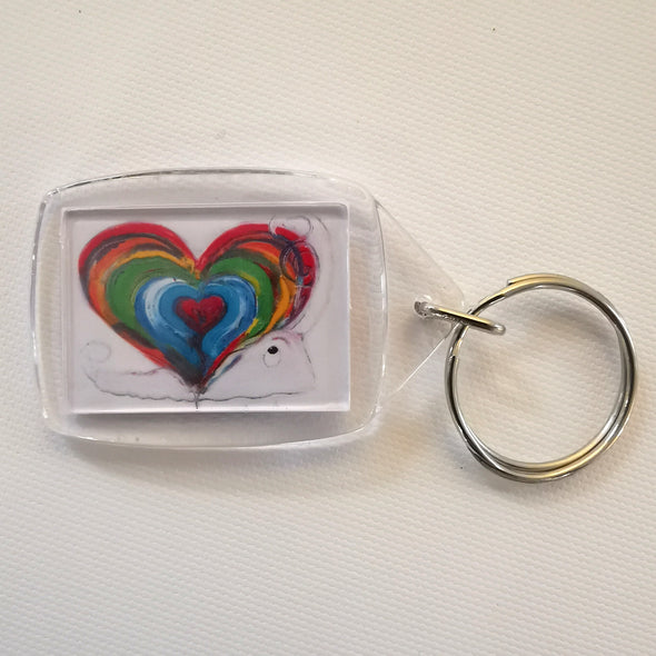 'Home is where the heart is' Keyring
