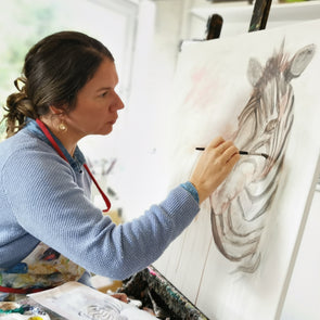 Children's Zoom Art Workshop - Paint a Zebra Workshop 16th January 2021