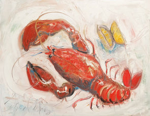 Lobster with Lemons - Original Oil Painting