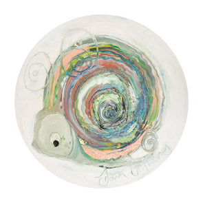 Opal the Snail - October Birthstone Ltd Edition Print