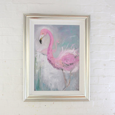 Pamela the Pink Flamingo - Original Painting