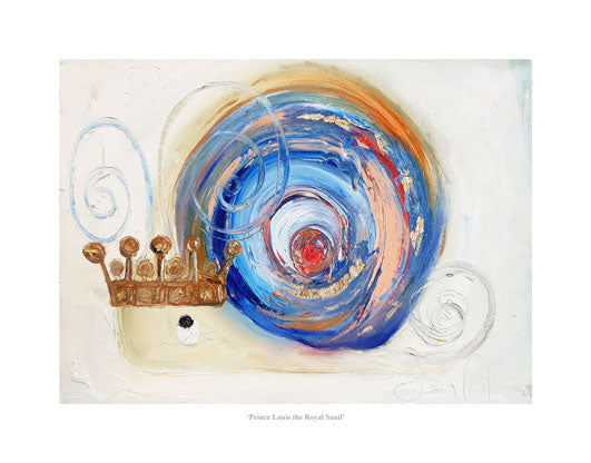 Prince Louis the Royal Snail - Ltd Edition Print
