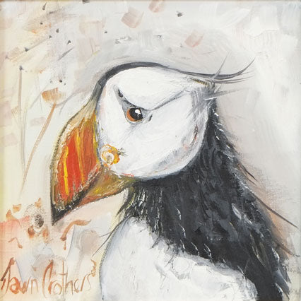 Proud Puffin - Original Oil Painting
