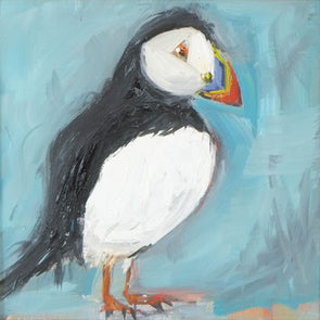 Puffin Stroll II - Original Oil Painting