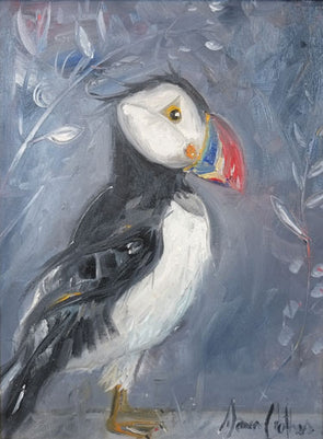 Puffin Twin I - Original Oil Painting