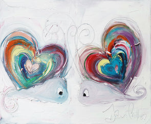 The Rainbow Love Snails - Ltd Edition Print
