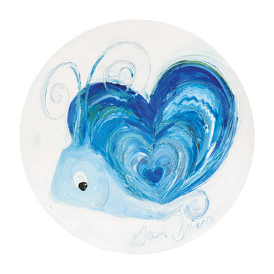 Sapphire the Snail - September Birthstone Ltd Edition Print