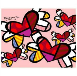 Britto Heart inspired Valentines Adult Paint & Sip Evening - Saturday 13th February 2021