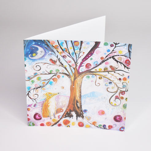 Snail Winter Wonderland Greeting Card