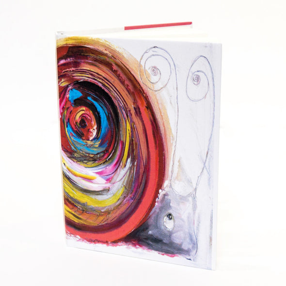 May the Snail Design A6 Hardback Notebook
