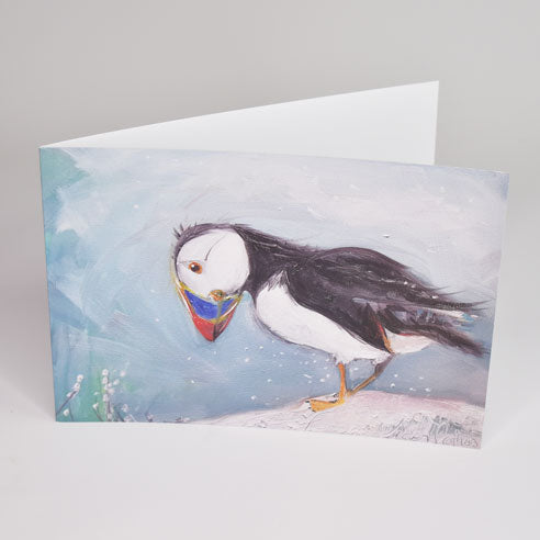 Snowy Breeze Greeting Card