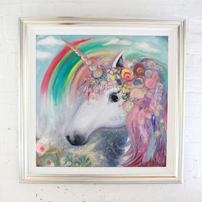 Sweet Pea & the Rainbow Snails - Original Painting