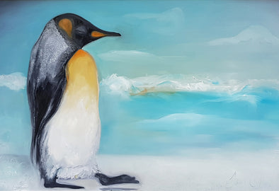 The Pondering Penguin- Ltd Edition Print