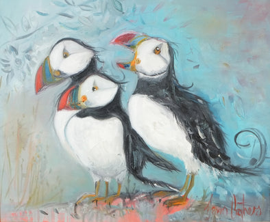 Three's a Crowd - Original Oil Painting