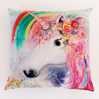 Unicorn Luxury Vegan Suede Cushion