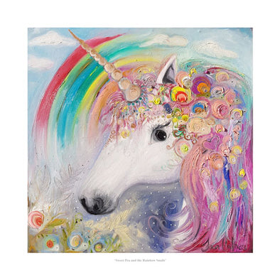 Sweet Pea the Unicorn and the Rainbow Snails - Ltd Edition Print