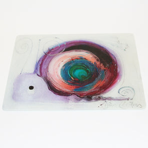 Valentina the Snail Glass Chopping Board - Homeware