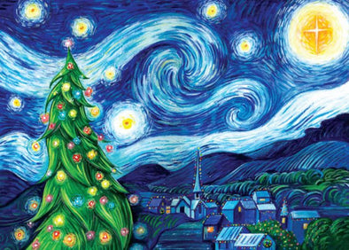 Christmas Starry Night Painting Art Workshop - 8+ Years - Sat 21st December 2019