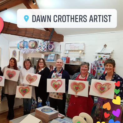 Valentines Heart Art Paint & Sip Evening - Thursday 13th February 2020