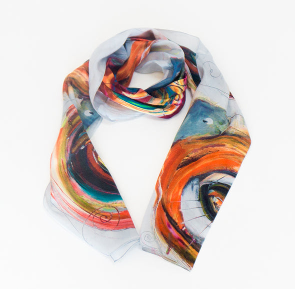 5 Snails Silk Scarf