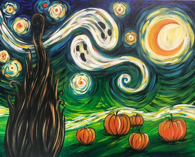 Family Halloween 'Halloween Starry Night' Painting Evening - Friday 23rd October 2020