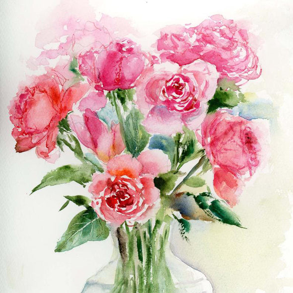 Watercolour Roses Paint & Sip Evening - Friday 7th February 2020