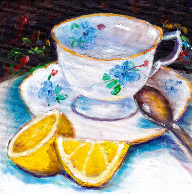 Afternoon Tea and Cake Adult Paint & Sip - Sat 1st February 2020