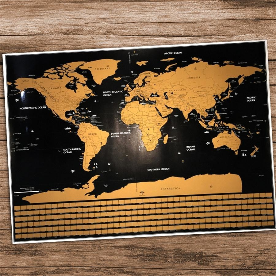 Scratch off world map shoptravelto home travel scratch map personalized world map poster vacation travelto gumiabroncs Choice Image