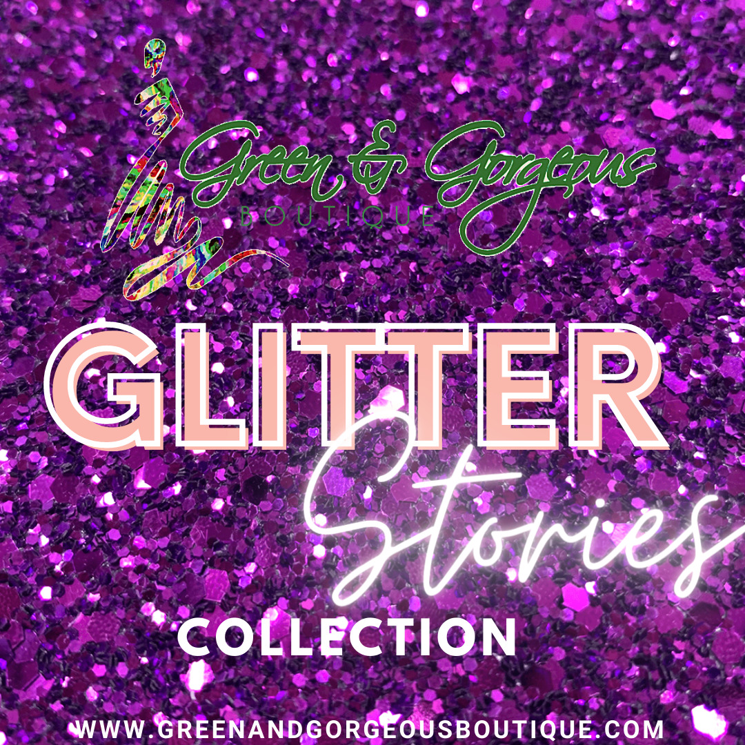 GLITTER Stories Collection | 'Purple Passion' Glitter Coasters (Set of 4)