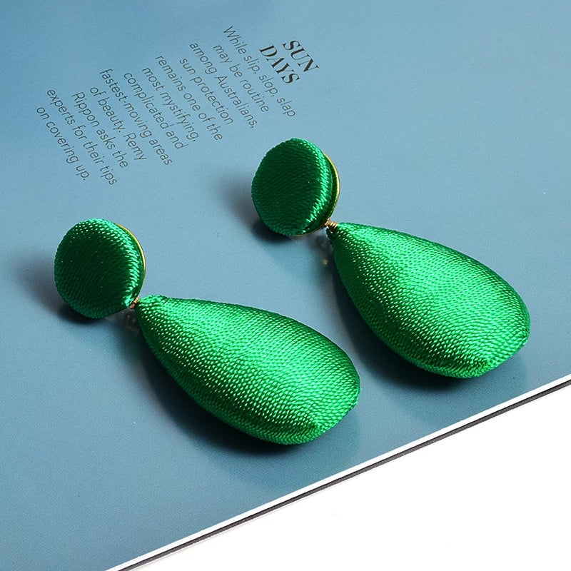 Green & Gorgeous Signature Collection | Green Silk Threaded Earrings