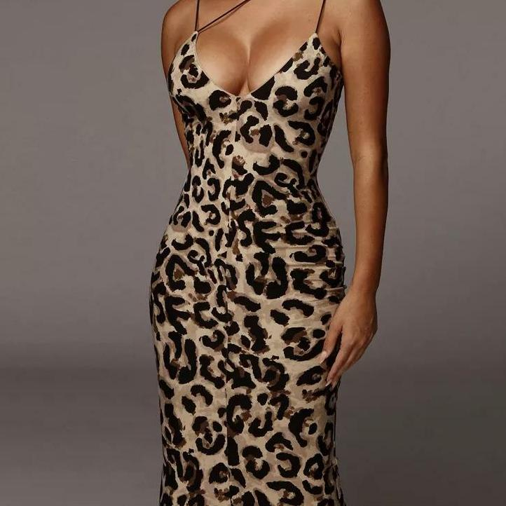 Brown & Black Leopard Print
