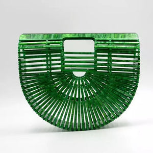 Green & Gorgeous Signature Collection Handmade Acrylic Bag