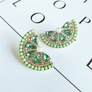 Green & Gorgeous Signature Collection | Pastel Green Diamond Earrings