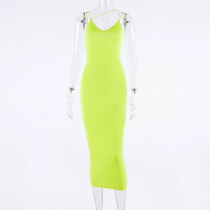 Bright Lights - Neon Green Dress