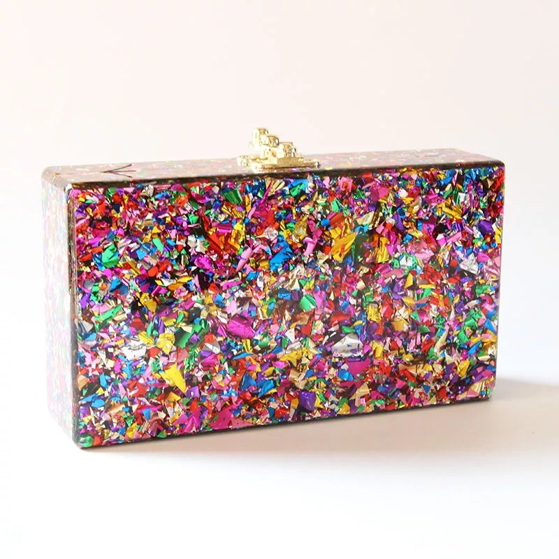 Rainbow Collection | Multi-Color Luxe Clutch