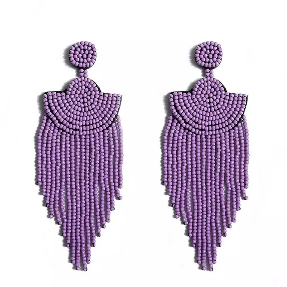 Green & Gorgeous Jewelry Collection | Purple Beads Earring
