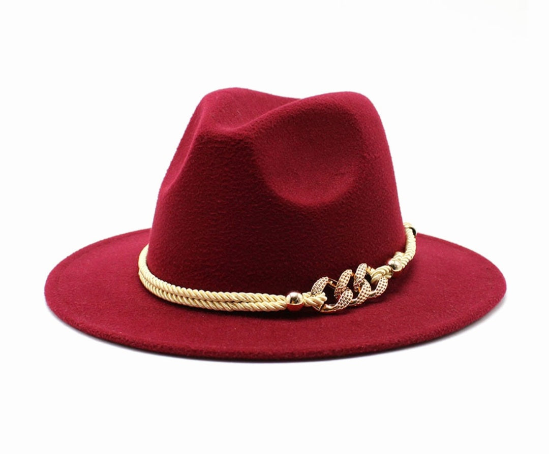 "New Collection | ""Bedazzled"" Red Fedora Hat"