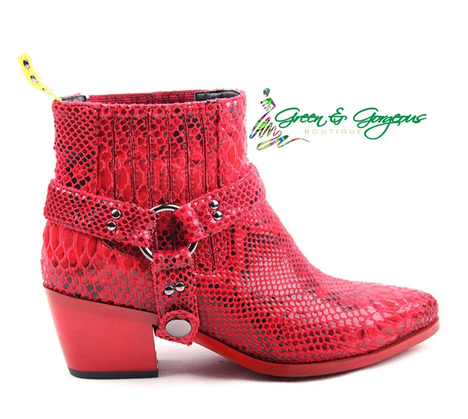 RED SNAKESKIN  BOOTS1