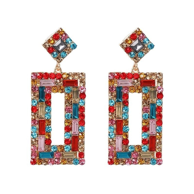 Rainbow Crystals Squared Earrings | New Jewelry Collection