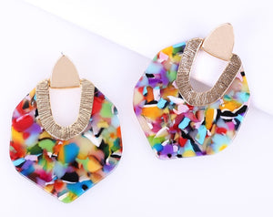 Rainbow New Jewelry Collection | Colorful Resin Earrings