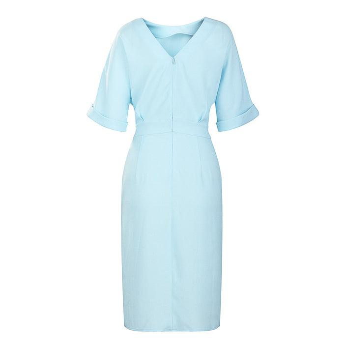 Sky Blue Front Split Dress